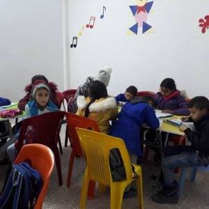 Children at school in Damascus, Syria