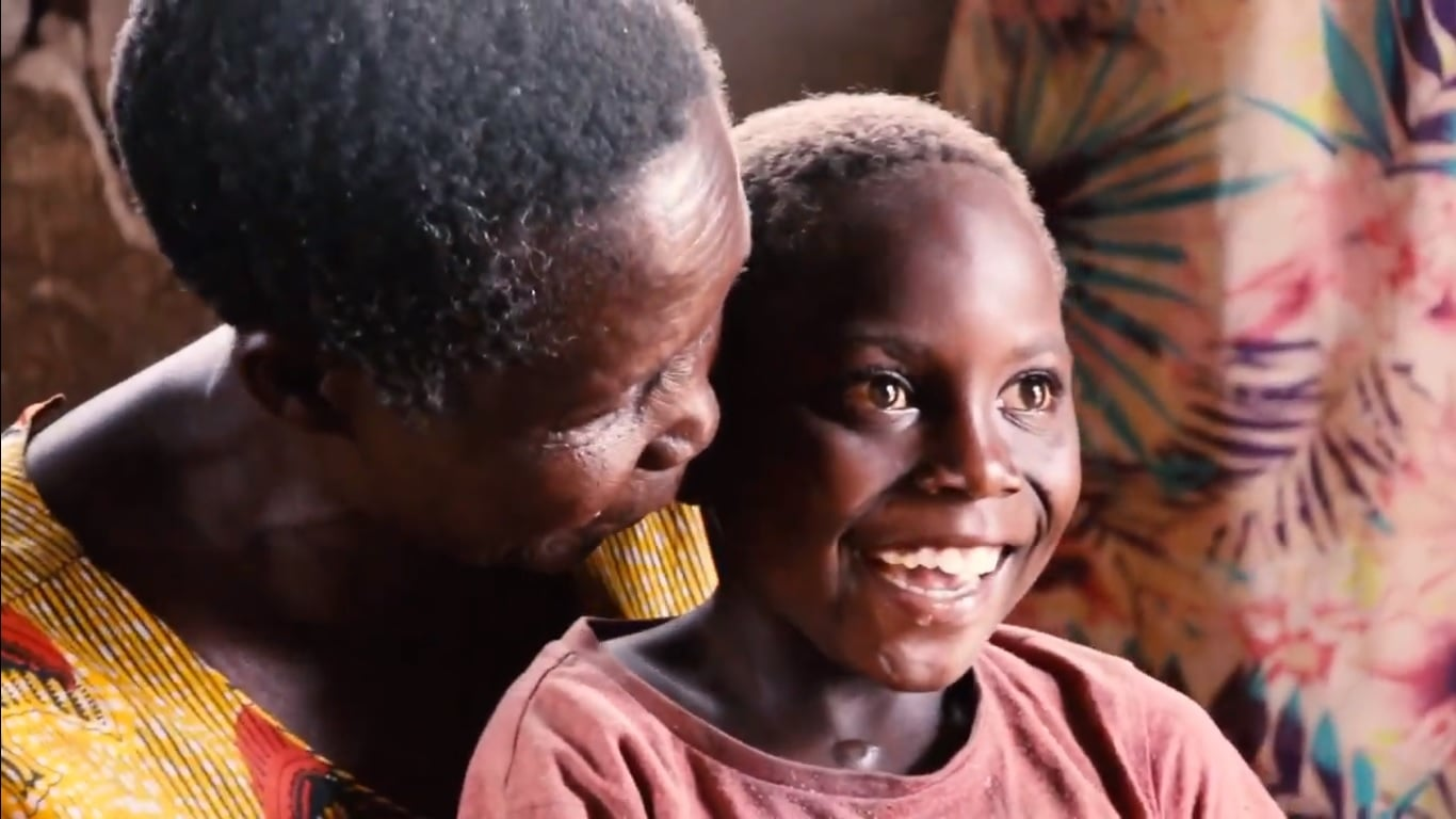 vulnerable child with mother