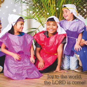 Christmas card: Joy to the world, the LORD is come!