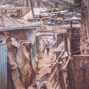 The poverty of Kibera slum, Kenya