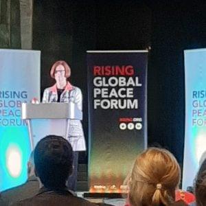 Julia Gillard at RISING peace conference, 2019