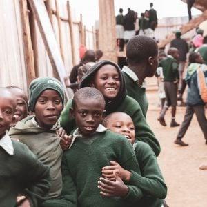 School boys grinning at Spurgeon's Academy, Kenya