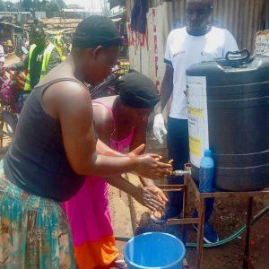 Handwashing provision in Kibera, Kenya