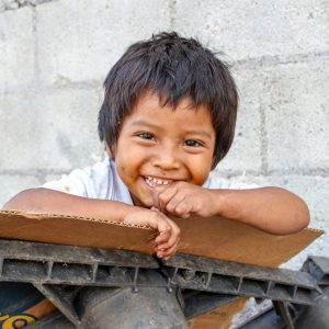 A smiling street-connected child in Guatemala