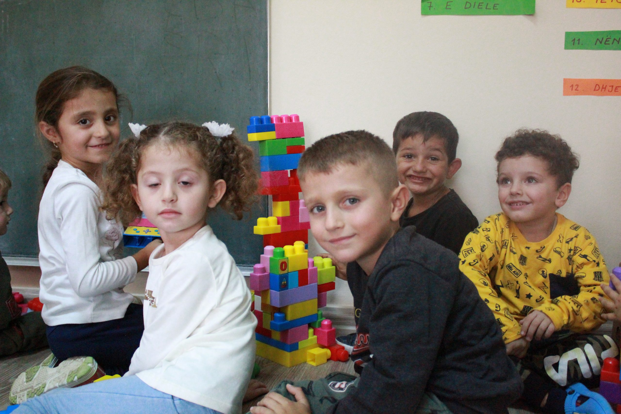 Albanian children playing together