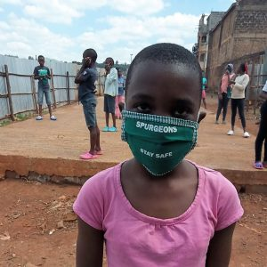 A Kenyan Spurgeon's Academy student wearing a mask