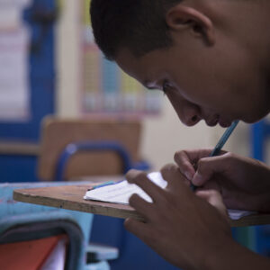 Child studying in Guatemala's support centre