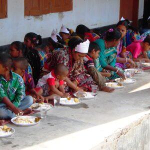 Bengali New Year Feast at Bangladesh Cyclone Shelter